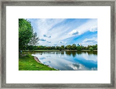 Large Novodevichy Pond Of Moscow - 2 Framed Print by Alexander Senin
