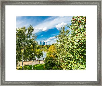 Large Novodevichy Pond Of Moscow - 3 Framed Print by Alexander Senin