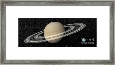 Large Planet Saturn And Its Rings Next Framed Print by Elena Duvernay
