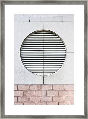 Large Ventilator Framed Print by Tom Gowanlock