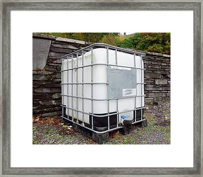 Large Water Tank Framed Print by Cordelia Molloy