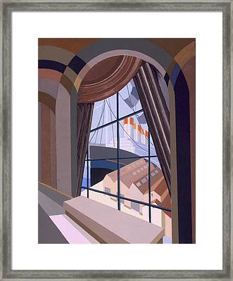 Large Window With A Seat, From Relais Framed Print by Edouard Benedictus