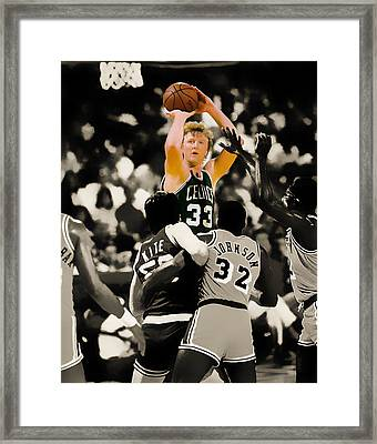 Larry Bird Framed Print by Brian Reaves