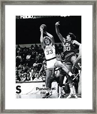Larry Bird Framed Print by Retro Images Archive