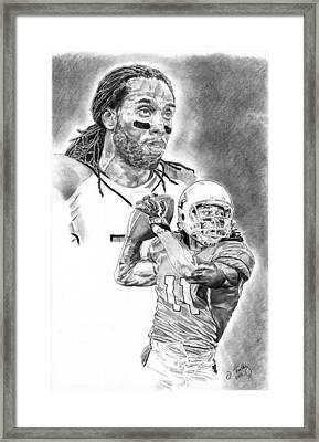 Larry Fitzgerald Framed Print by Jonathan Tooley
