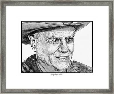 Larry Hagman In 2011 Framed Print by J McCombie