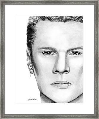 Larry Mullen Jr. Framed Print by Kayleigh Semeniuk