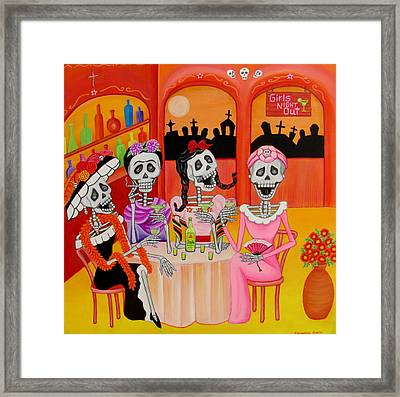 Las Comadres Framed Print by Evangelina Portillo