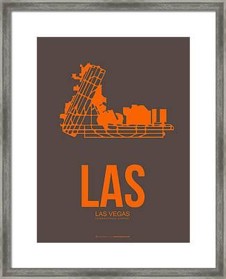 Las Las Vegas Airport Poster 1 Framed Print by Naxart Studio