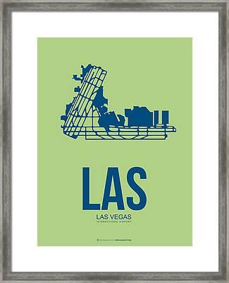 Las Las Vegas Airport Poster 2 Framed Print by Naxart Studio