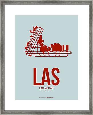 Las Las Vegas Airport Poster 3 Framed Print by Naxart Studio