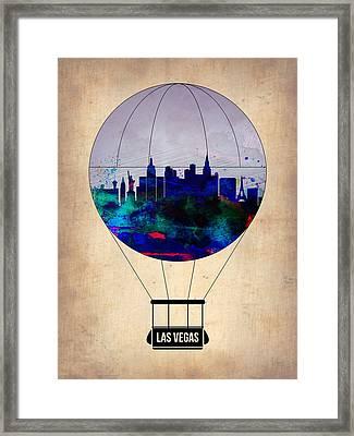 Las Vegas Air Balloon Framed Print by Naxart Studio
