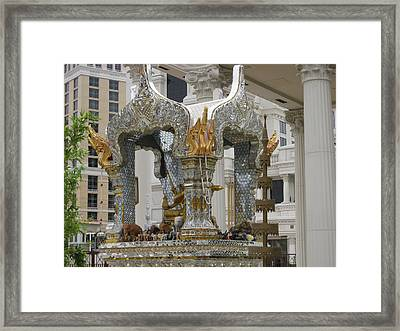 Las Vegas - Caesars Palace - 12123 Framed Print by DC Photographer