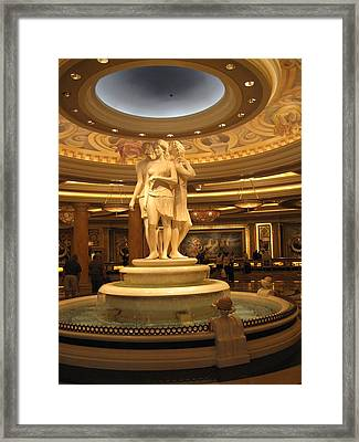 Las Vegas - Caesars Palace - 12129 Framed Print by DC Photographer