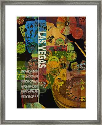 Las Vegas Compilation Framed Print by Corporate Art Task Force