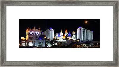 Las Vegas - Excalibur Casino - 01131 Framed Print by DC Photographer
