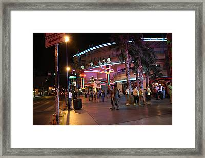 Las Vegas - Fremont Street Experience - 121224 Framed Print by DC Photographer