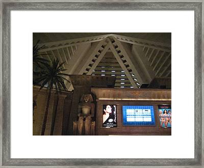 Las Vegas - Luxor Casino - 12122 Framed Print by DC Photographer