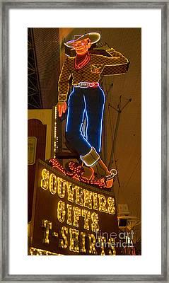 Las Vegas Neon 12 Framed Print by Bob Christopher
