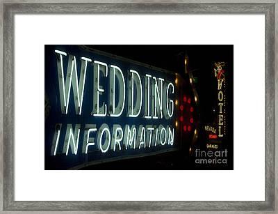 Las Vegas Neon 5 Framed Print by Bob Christopher