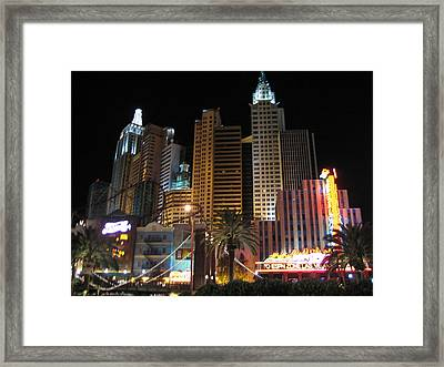Las Vegas - New York New York Casino - 12127 Framed Print by DC Photographer