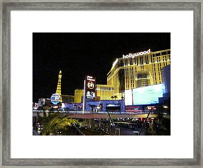 Las Vegas - Planet Hollywood Casino - 12124 Framed Print by DC Photographer