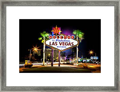 Las Vegas Sign Framed Print by Az Jackson