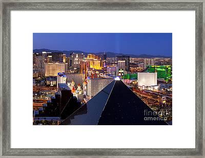 Las Vegas Skyline Framed Print by Brian Jannsen