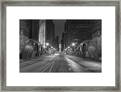 Lasalle St - Chicago Framed Print by Jeff Lewis