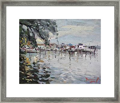 Lasalle Yacht Club Framed Print by Ylli Haruni