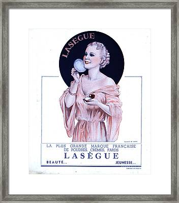 Laseguela Vie Parisienne 1930s France Framed Print by The Advertising Archives