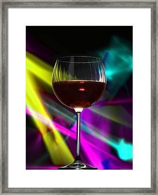 Laser Wine Framed Print by Dennis James