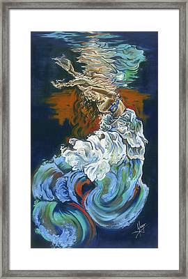 Dive Into Your Soul Framed Print by Karina Llergo