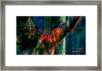 Last Breath Of Jesus Framed Print by Michael Grubb