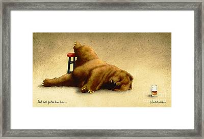 Last Call For The Beer Bar... Framed Print by Will Bullas
