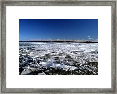 Last Day Of Ice On The Lake 3 Framed Print by Lyle Crump