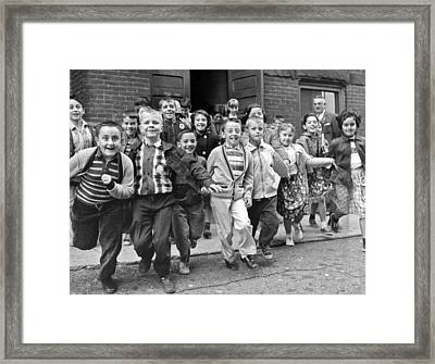 Last Day Of School Framed Print by Underwood Archives