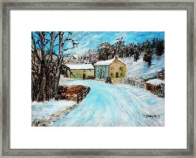 Last Days Of Winter Framed Print by Mauro Beniamino Muggianu