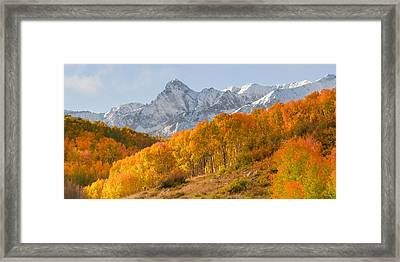 Last Dollar Road Panorama Framed Print by Aaron Spong