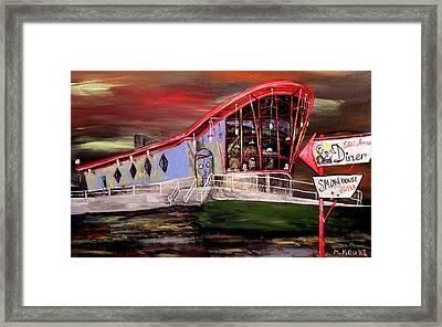 Last Friday Night Closed Framed Print by Mark Moore