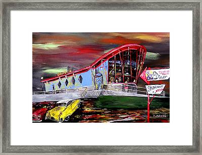 Last Friday Night - Huntsville Alabama  Framed Print by Mark Moore