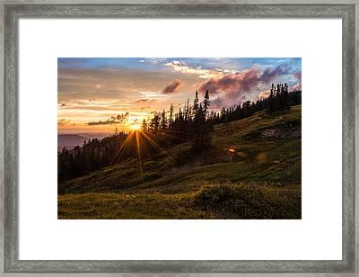 Last Light At Cedar Framed Print by Chad Dutson