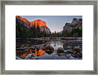 Last Light At Valley View Framed Print by Cat Connor