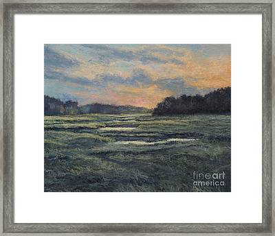 Last Light On The Marsh - Wellfleet Framed Print by Gregory Arnett