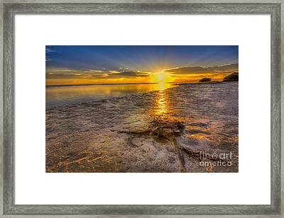 Last Light Over The Gulf Framed Print by Marvin Spates