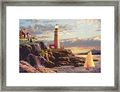 Last Light  Framed Print by Ron Chambers