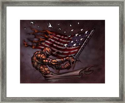 Last Man Standing Framed Print by David Bollt