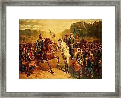 Last Meeting Of Lee And Jackson Framed Print by J G Fay