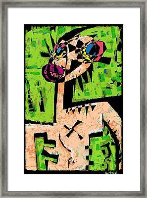 Last Night I Dreamt I Was The Praying Mantis. Framed Print by Brett Sixtysix