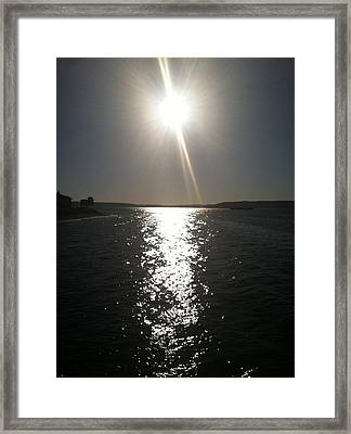 Last Rays Of The Day Framed Print by Lori Seaman